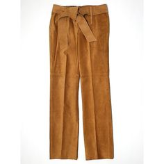 Pre-owned BCBGMAXAZRIA Leather Pants Size 2: Tan Women's Pants ($177) ❤ liked on Polyvore featuring pants, tan, leather trousers, tan leather pants, tan trousers, brown pants and brown trousers