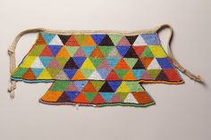 #StandardBank African Collection: North Sotho #SouthAfrica Beaded apron, Beads, string  #Art African Image, African Art, African Beads, African Jewelry, Ethnic Jewelry, South Africa Art, Ethnic Chic, African Design, Traditional Art