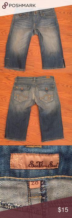 "See thru soul Capri's Sts Capri's, inseam 15"" STS Blue Pants Capris"
