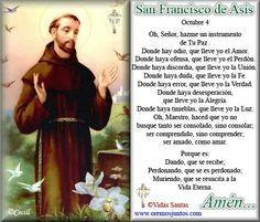 Oración a San Francisco de Asis