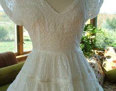 Wedding dress vintage 1950s lace princess by RetroVintageWeddings