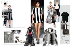 """GEOMETRY LESSONS- Let's go back to basics. This season, monochrome was reinvented in stripes, herringbone, checks and spots. The mod returned at Marc Jacobs, inspired by Andy Warhol's muse, Edie Sedgwick. The same spirit informed Louis Vuitton, where Jacobs embraced the idea of """"the bolder, the better"""". The key? Stay sharp yet sophisticated. Think about your shape and shop accordingly."""