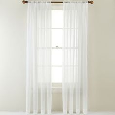 Style Selections 84 Quot Antique Arcadia Sheer Curtain The