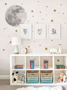 Moon and Stars Wall Sticker, Moon Wall Sticker, Star wall Decals – Peel and Stick Wall Stickers Kids Room Decor - Home Decor Wall Stickers Stars, Kids Room Wall Stickers, Window Stickers, Window Decals, Window Clings, Baby Room Decor, Bedroom Decor, Girls Room Wall Decor, Bedroom Ideas