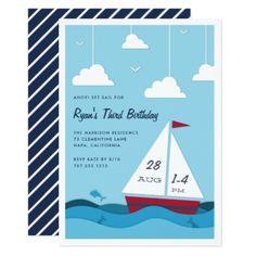 Smooth Sailing | Kids Birthday Party Invitation - birthday gifts party celebration custom gift ideas diy