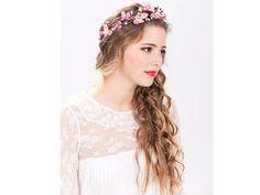 Corona de Flores Rosada