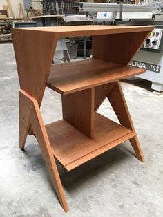 This Solid Ash Wood Record Player Stand is built to order by BLR Woodworking (BLR Woodworks on Etsy) in Los Angeles. It is made from solid hardwoods and is constructed using classic wood joinery techniques. Inspired by 1950s Atomic Style furniture, this record player stand has room for 1