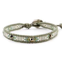 Chan Luu - Metallic Light Gold Beaded Single Wrap Bracelet on Gauriya Leather, $65.00 (http://www.chanluu.com/wrap-bracelets/metallic-light-gold-beaded-single-wrap-bracelet-on-gauriya-leather/)