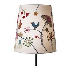 Ever since I saw something similar for sale at Ikea, I've wanted to buy a plain lampshade and embroider it.
