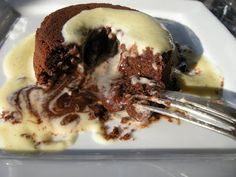 Kitchens Are Monkey Business: Rosie Makes Freakin' Excellent Chocolate Lava/Volcano Cakes With A Creme Anglaise.