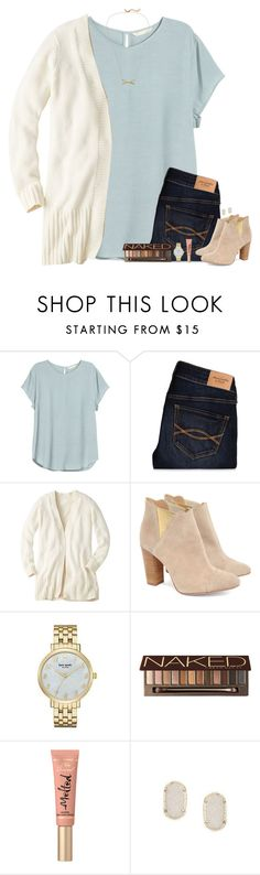 """""""Read the Description!!!"""" by bloom17 ❤ liked on Polyvore featuring H&M, Abercrombie & Fitch, Cleo B, Kate Spade, Urban Decay, Too Faced Cosmetics, Kendra Scott, women's clothing, women and female"""