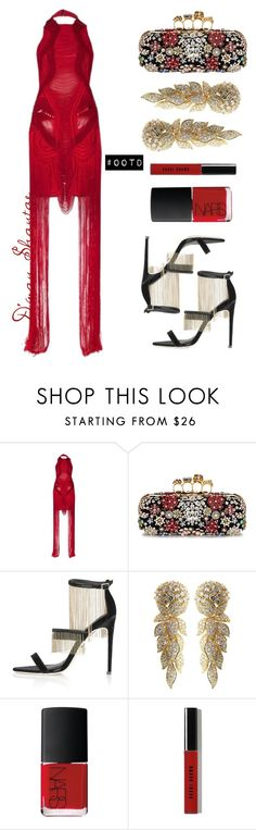 """""""#OOTD - Alana Dress, Alexander McQueen Clutch, Topshop Sandals"""" by adswil ❤ liked on Polyvore featuring Alexander McQueen, Topshop, Cartier, NARS Cosmetics, Bobbi Brown Cosmetics, women's clothing, women, female, woman and misses"""
