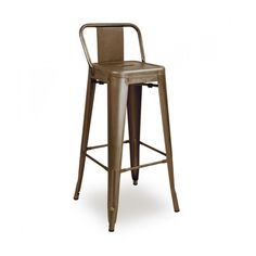 "Dreux Rustic Matte Steel Low Back Barstool 30"" (Set of 4)"