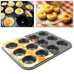 Une plaque en acier inoxydable pour réaliser 12 succulents petits gâteaux à offrir pour la fête des mères - www.yonis-shop.com