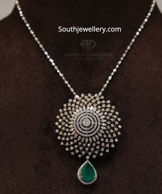 Emerald Pendant, Diamond Pendant Set, Gold Pendant, Pendant Jewelry, Indian Jewelry Earrings, India Jewelry, Jewlery, Real Diamond Necklace, Gold Jewelry Simple