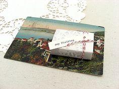 Wedding favor boîtes personnalisés napperon et par SepiaSmiles