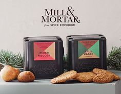 Prøv de håndpakkede, økologiske krydderiblandinger og oplev den perfekte julesmag i brunkager og pebernødder. #inspirationdk #inspirationonline #jul #christmas #mill&mortar