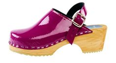 Purple Patent Clog - Stylish patent leather in a unique soft purple color, with moveable heel strap for extra support. These clogs are fun for kids, and they stay put!    Product Code 1321018. Order here: http://store.capeclogs.com/PurplePatentLeather-3.aspx.