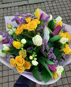 #spring #flowers #tulips #freesia #sprayroses #colorful #lalele #frezii Spring Bouquet, Spring Flowers, Coffee Flower, Spray Roses, Happy Colors, Magnolia, Tulips, Floral Wreath, Wreaths