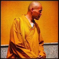 Buddhist Monk in Shanghai China