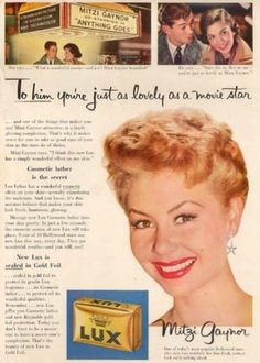 "Mitzi Gaynor for Lux soap from ""Anything Goes"" 1956"