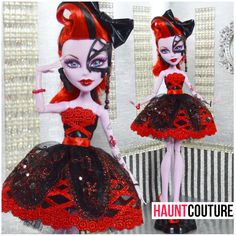Fulfilling all of your high fashion needs for your Monster High ghouls! Monster High School, Monster High Clothes, Ooak Dolls, Barbie Dolls, Monster High Pictures, Doll Home, Monster High Custom, Creepy Dolls, High Art