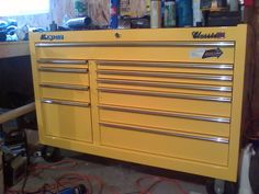 Powder Coated yellow tool box