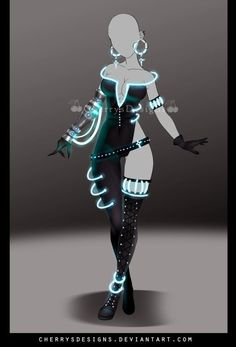 [closed] - Outfit Adopt 729 by CherrysDesigns on DeviantArt Hero Costumes, Anime Costumes, Dress Drawing, Drawing Clothes, Fashion Design Drawings, Fashion Sketches, Cosplay Outfits, Anime Outfits, Character Outfits