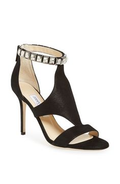 Free shipping and returns on Jimmy Choo 'Hampton' Suede Sandal at Nordstrom.com. Glamour never goes out of style. Cosmic-cut Swarovski crystals set off the slim ankle cuff of a timeless, paneled sandal done up in Jimmy Choo's shimmer suede.