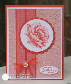 Stampin Anne: Stippled Blossoms for Dynamic Duos #50 AND Vicki B.
