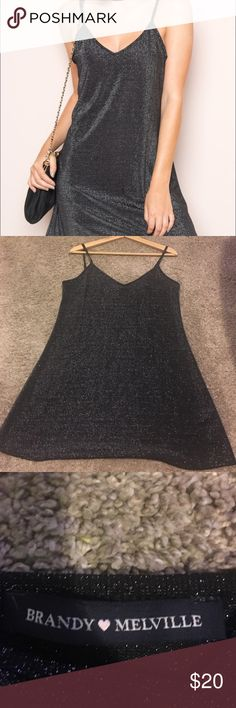 Brandy Melville Dress Brandy Melville glitter Minnie dress. Fits a size XS/S Brandy Melville Dresses
