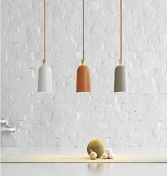 And these small ones. Charming. The Small Fuse Lamp by Note, Remodelista
