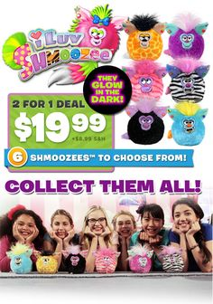 Shmoozees™ - Buy 1 Get 1 Free! Only $19.99 | Order here: http://asseenontvmarket.net/product/kids/shmoozees-buy-1-get-1-free/