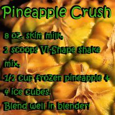 Pineapple Crush ViSalus Recipe