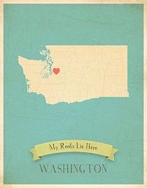 Washington My Roots Map from Children Inspire Design