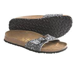 Papillio by Birkenstock Madrid Sandals - Birko-flor®, Leopard Classic (For Women) in Black