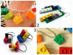 Lego jewelry tutorials