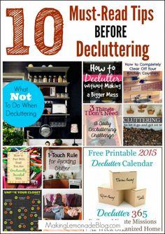 10 Must-Read Tips BEFORE Decluttering   Making Lemonade