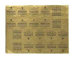 * Madeleine Vionnet Papier d'emballage pour coffrets de parfumerie, 1924 Le lettrage imprimé noir sur fond doré, probablement dessiné par Boris Lacroix*