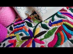 PRESENTACION CANAL DE BORDATUTORIALES Y TAPITUTORIALES DE PROFE SONIA Hand Embroidery Flowers, Flower Embroidery Designs, Embroidery Applique, Needlepoint Stitches, Needlework, Mexican Embroidery, Textile Design, Diy Jewelry, Deco