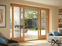 Milgard Essence Series® patio door (option 2). The interior can be painted to match kitchen