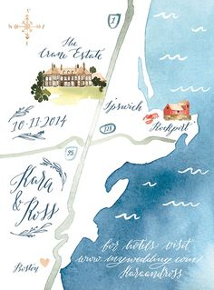 Cool idea! Sort of an infographic :D Yao Cheng Design | wedding map