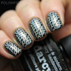 Picture Polish Darcy stamped with Color Club Harp On It