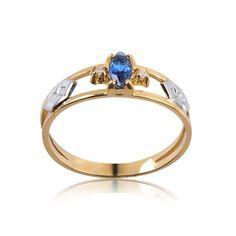 Anel de Formatura Ouro com Diamante 2 Pontos AG055
