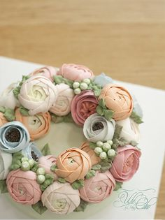 Buttercream Flower Cake by We Cake