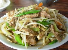Authentic Asian Recipes: Pork Chop Suey Recipe The Far Eastern people, who also reflect the difference in their lifestyle, do not consume dairy pr. - My Website 2020 Authentic Chinese Recipes, Easy Chinese Recipes, Spicy Recipes, Pork Recipes, Cooking Recipes, Noodle Recipes, Chop Suey Recipe Chinese, Pork Chop Suey, Asian Pork