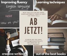 Improve your English. Find out about the best learning techniques. Try out creative writing! Learn out of the best books. Learning Techniques, Improve Your English, Creative Writing, Videos, Good Books, Improve Yourself, Cards Against Humanity, Good Things, Writing