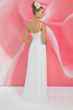 Style *I116 » Wedding Dresses » Ivory Collection » Pearl Bridals » Available Colours : Ivory/Silver, White/Silver » Shown Ruched bust with Silver Beaded Brooch detail (back)