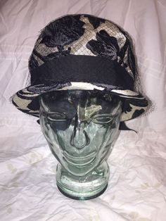 736523a15f5 Vintage Ladies Hat netting bow black gold G.Fox   Co. Hartford Conn USA   fashion  clothing  shoes  accessories  vintage  vintageaccessories (ebay  link)