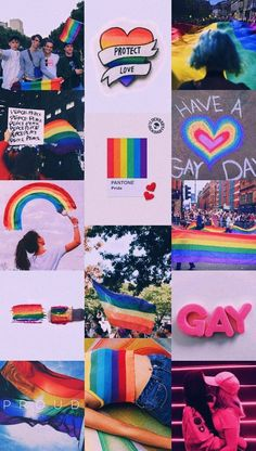 I'm not gay but for all the beautiful gays/lesbians out there, happy pride month! Wallpapers Tumblr, Tumblr Wallpaper, Cute Wallpapers, Lesbian Pride, Lesbian Love, Gay Tumblr, Gay Aesthetic, Rainbow Wallpaper, Rainbow Aesthetic